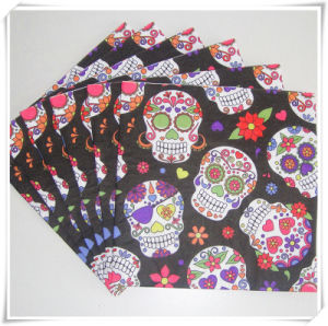 New Design Virgin Wood Pulp Dinner Napkins Printed for Halloween pictures & photos