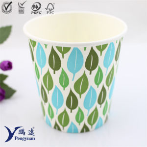 Disposable Ice Coffee Beverage Drinking Paper Cup pictures & photos