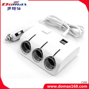 3 Sockets Multiple Output Adaptor Refillable Electronic Cigar Smocking Splitter Lighter pictures & photos