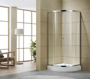 Tempered Glass Shower Bath Screen Round Shower Enclosure Shower Room pictures & photos