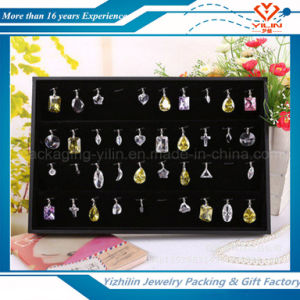 2016 New Wooden Jewelry Earring Ring Pendant Display Tray with Holder