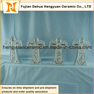 Ceramic Decoration The Cross Shape Gift of Religious Belief The Design of Angel pictures & photos