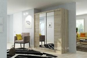 Modern Quality Bedroom Sliding Mirror Door Wardrobe (HF-EY016) pictures & photos