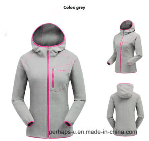 Ladies Graceful Polar Fleece Hoodie pictures & photos