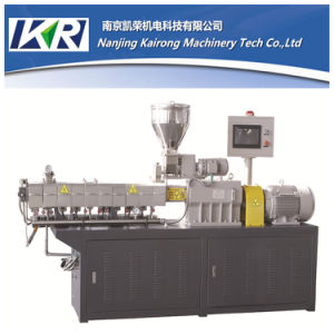 Lab Plastic Polymer Compounding Parallel Co-Rotating Twin Screw Extruder Price pictures & photos