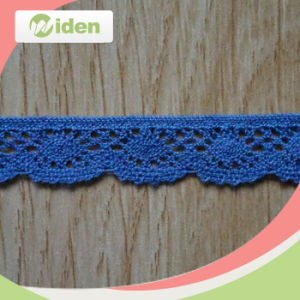 1.5cm Fashion Styles Blue Cotton Cheap African Nigerian Lace pictures & photos