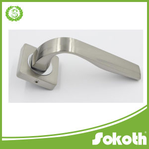 Square Door Handles with Escutcheon, Door Lock Handle pictures & photos