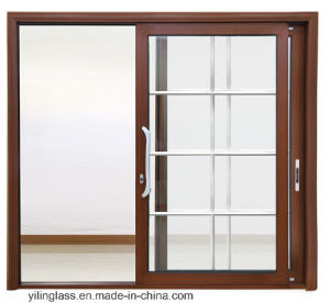 Aluminum Tempered Glass French Interior Sliding Door pictures & photos
