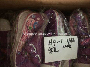 Children Cheap Stock Sports Shoes Injection Canvas Shoes (H9-1) pictures & photos