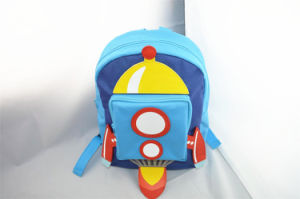 Boys Blue Rocket Novelty Polyester Backpack pictures & photos