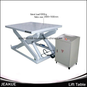 Jeakue Immovable Hydraulic Lift Table 1000kg pictures & photos