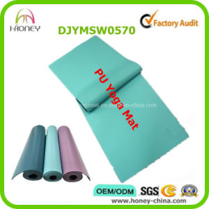 Sweat Absorbent Fintness Wonderful PU Leather Yoga Mat pictures & photos
