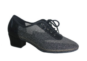 Women′s Black Mesh Upper Tango/Latin Dance Practice Shoes pictures & photos