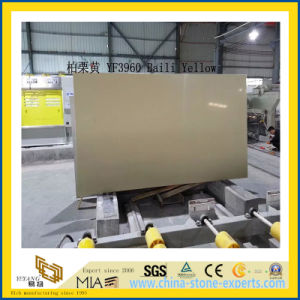 Polished Baili Yellow Artificial Quartz Slabs for Kitchen Countertops (YQC) pictures & photos