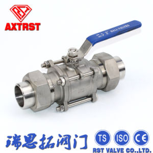 Union Welding Stainless Steel 3PC Floating Ball Valve pictures & photos