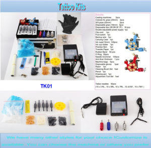 Hot Sale Cheap Professional Tattoo Kit with 2 Gun Tk01 pictures & photos