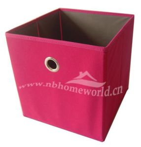 Red Non Woven Storage Toy Box for Home