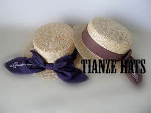 Wheat Braid Boater Straw Hat pictures & photos