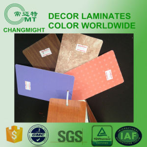 Wood Grain Laminate Kitchen Cabinets/ Compact Laminate pictures & photos