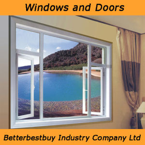 Casement/Sliding Aluminium Window with Kinlong Fittings pictures & photos