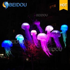 Custom Event Stage Wedding Party Decoration RC Lighted Inflatable Jellyfish pictures & photos