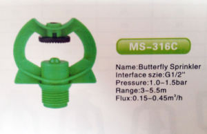 "1/2"" POM Butterfly Sprinkler (MS-316C) pictures & photos"