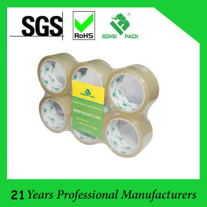 6 Rolls Pack BOPP Acrylic Glue 50mic OPP Tape (KD-0462) pictures & photos