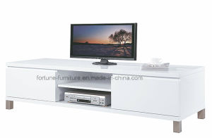 Modern Wooden UV High Gloss White TV Cabinet (210B-01) pictures & photos