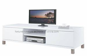 Modern Wooden UV High Gloss White TV Cabinet (210B-01)