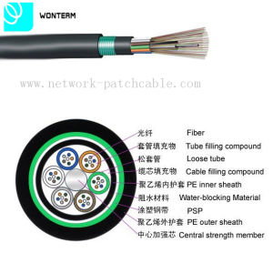 Outdoor 2~288 Core GYTY53 Loose Tube Stranding Optical Fiber Cable pictures & photos