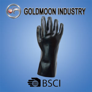 Black PVC Safety Work Glove (60) pictures & photos