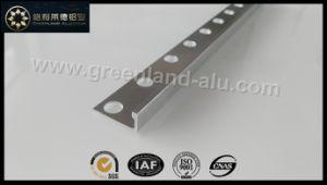Glt195 Aluminum L Shape Tile Edge Trim Brushed Silver to UK pictures & photos