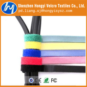 Nylon Black Hook and Loop Velcro Wire Tie pictures & photos
