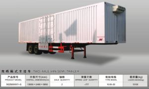 2/Double Axles Box Semi Trailer pictures & photos