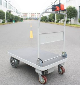 Electric Flatbed Hand Truck for Materials Handling (HG-1010) pictures & photos
