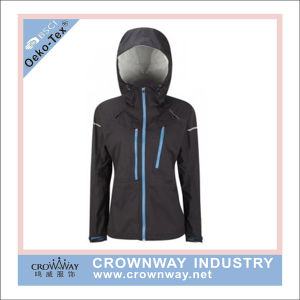 Fully Waterproof Packaway Women Running Sports Jacket with Taped Seams pictures & photos