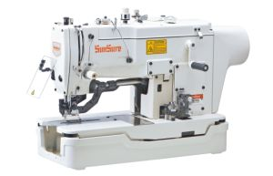 Direct Drive High-Speed Lockstitch Straight Button Holing Sewing Machine pictures & photos