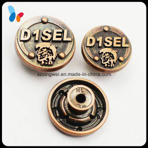 High Quality Fashion Alloy Metal Jeans Button with Embossed Logo pictures & photos