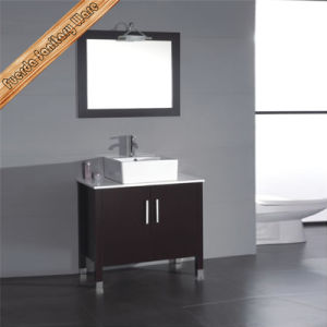 Fed-1884 North America Popular Ceramic Sink Solid Wood Bathroom Vanity pictures & photos