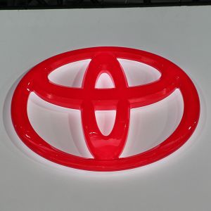 Red Plastic Thermoforming Advertising LED Car Sign pictures & photos