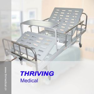 2 Crank Manual Medical Bed pictures & photos