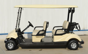 Dongfeng 4 Seats Electric Golf Car /Electric Sightseeing Vehicle pictures & photos
