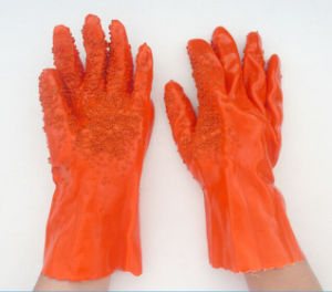 PVC Anti-Slip Acid and Alkali Industrial Rubber Safety Gloves pictures & photos