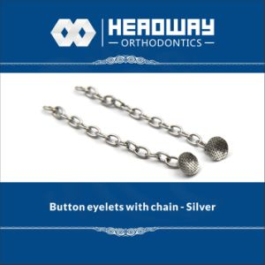Orthodontic Accessory Round Base Eyelet with Traction Chain Silver pictures & photos