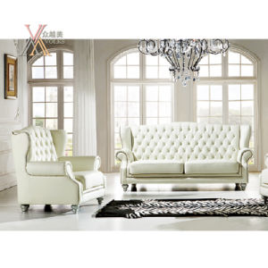 European Style High Back White Leather Sofa Set (S22) pictures & photos