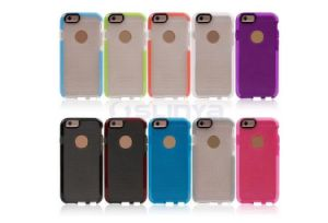 Double Color TPU Soft D30 Ultra Thin Impact Mesh Tech 21 Cases Protective Case for iPhone 5/6/6 Plus pictures & photos