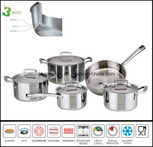 3ply Stainless Steel Multi-Purpose Cooking Pot pictures & photos