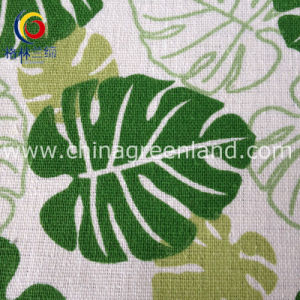 Linen Cotton Leaves Printed for Textile Luggage Bags (GLLML135) pictures & photos