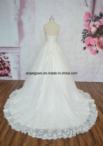 Sexy A Line Sweetheart Big Train Elegant Angel Bridal Wedding Gown pictures & photos