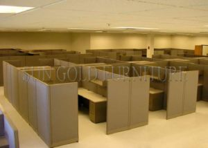 Functional Secretary Office Cubicle Designed Modern Fabric Partition Divider (SZ-WS586) pictures & photos